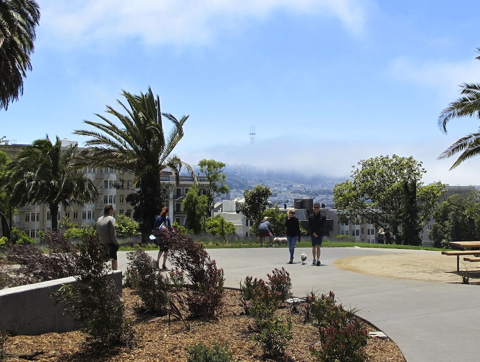 Lafayette Park in Pacific Heights San Francisco California United States