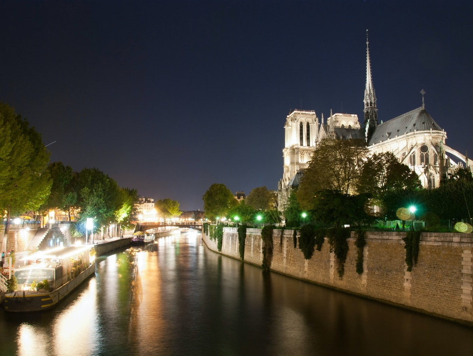 Notre Dame and the Seine at Night   France