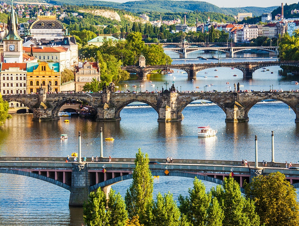 Historic Bridge with Stunning Views Prague  Czech Republic