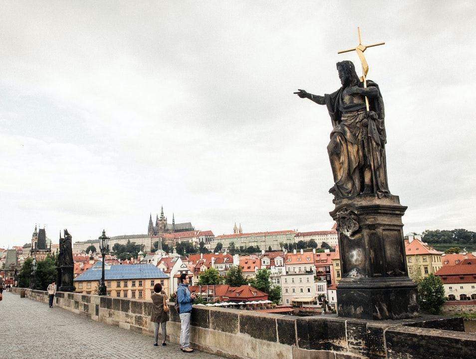 Historic Bridge with Stunning Views Prague  Czechia