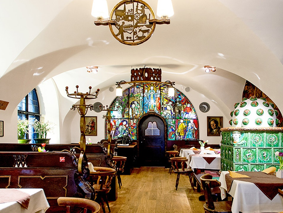 Local Brew and Traditional Austrian Dishes at the Historic Gablerbräu  Salzburg  Austria