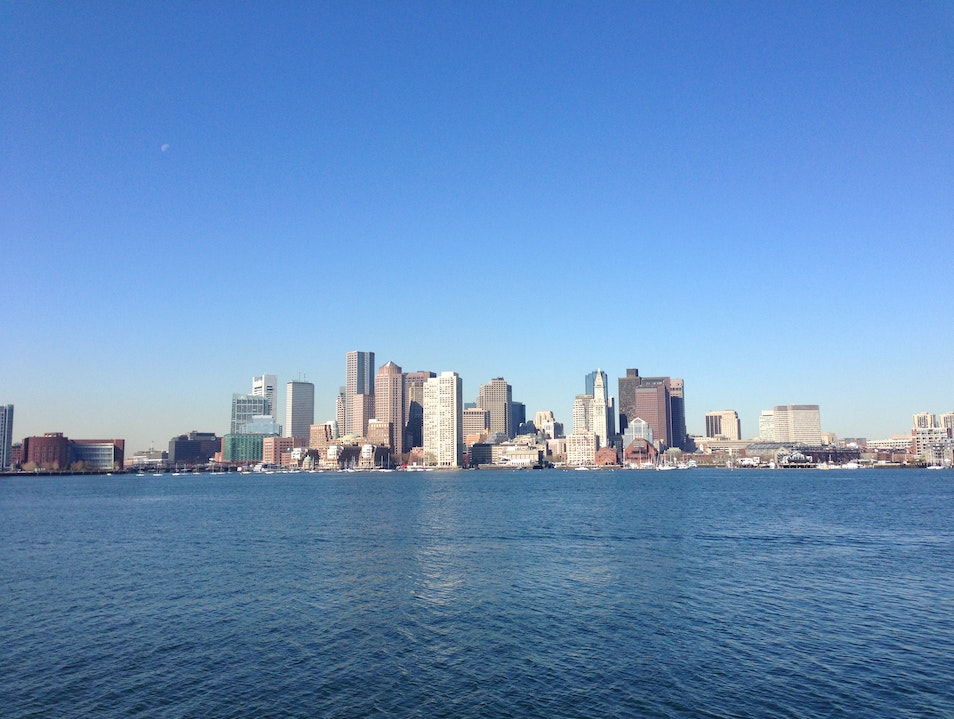 Great City-View from Across the Harbor Boston Massachusetts United States