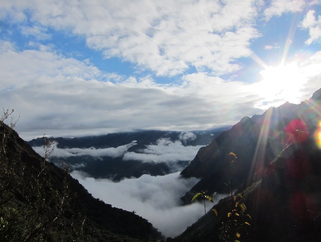3rd day of Inca trail, one of many breath taking moments.