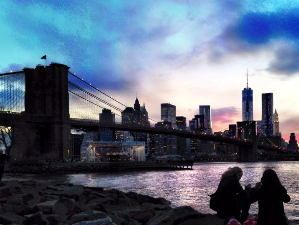 Sunset at Brooklyn Bridge Park New York New York United States