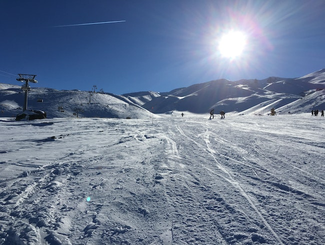 Skiing Erciyes in Central Turkey