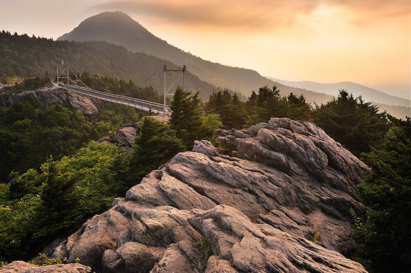 The Mile High Swinging Bridge in Grandfather State Park is the highest suspension bridge in the country.
