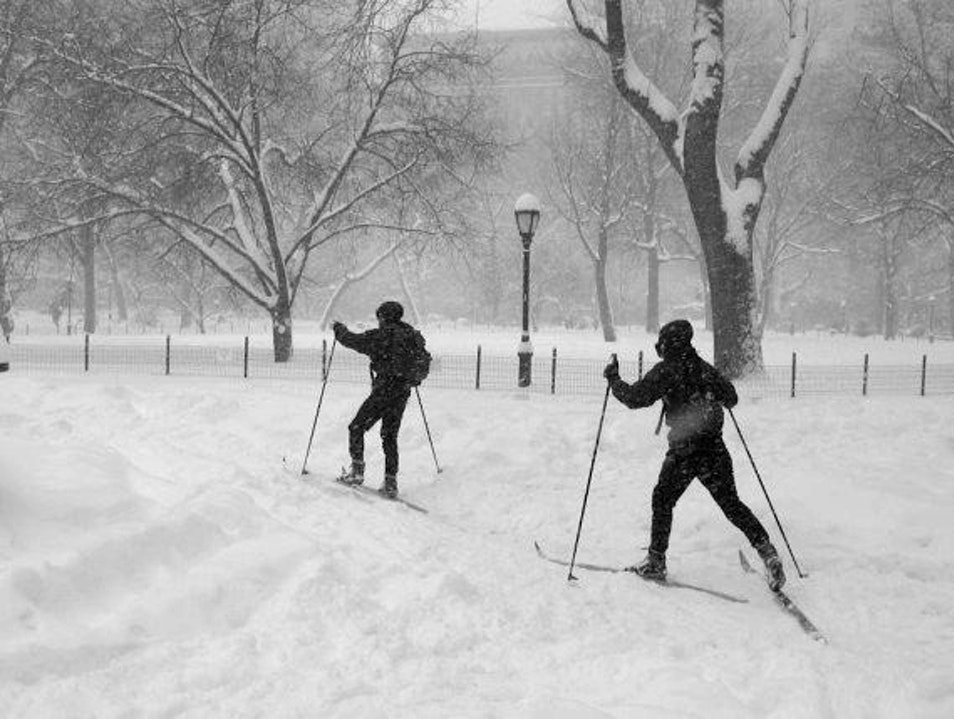 XXskiing in Central Park New York New York United States