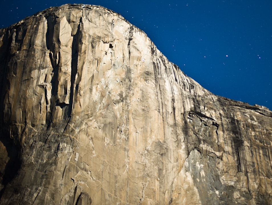 El Capitan at midnight.... Yosemite National Park California United States