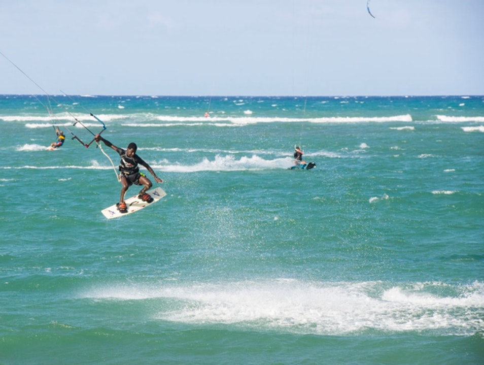 Kitesurf at Playa Cabarete Cabarete  Dominican Republic