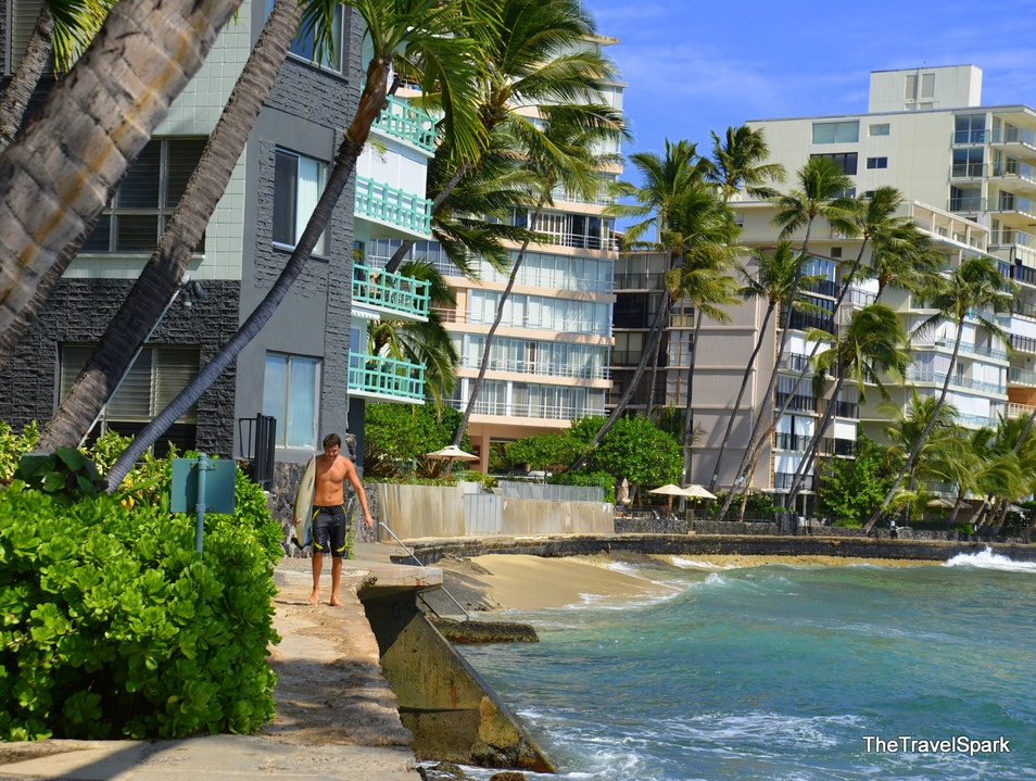 A perfect day in Waikiki Honolulu Hawaii United States
