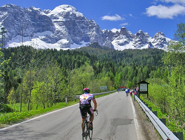 Biking the Dolomite Mountains in Northern Italy