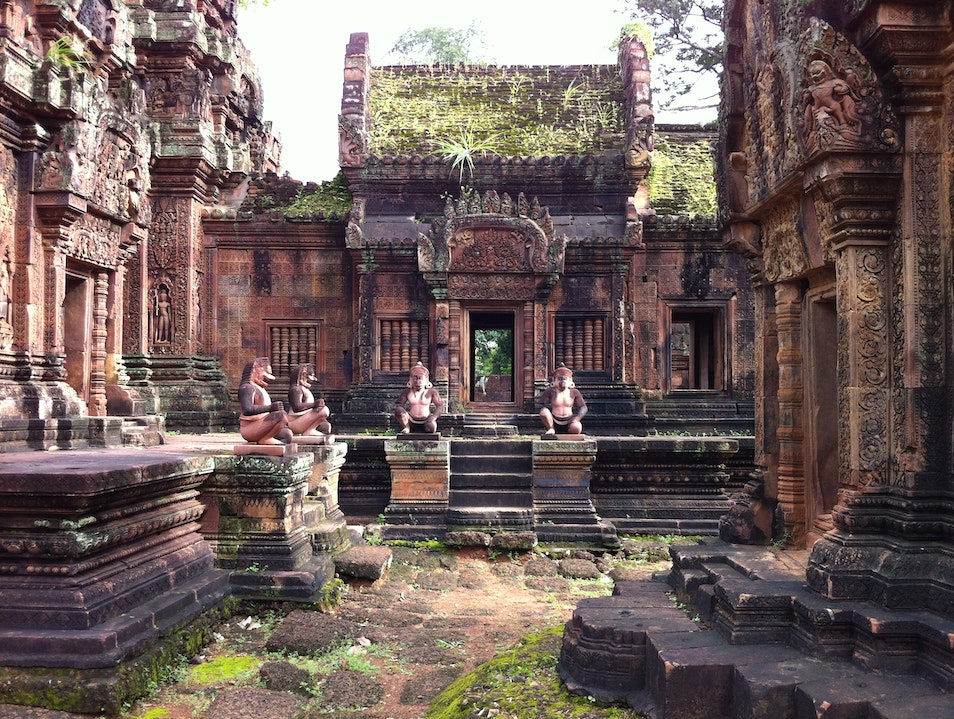 Savour sublime carvings at Banteay Srei Banteay Srei  Cambodia