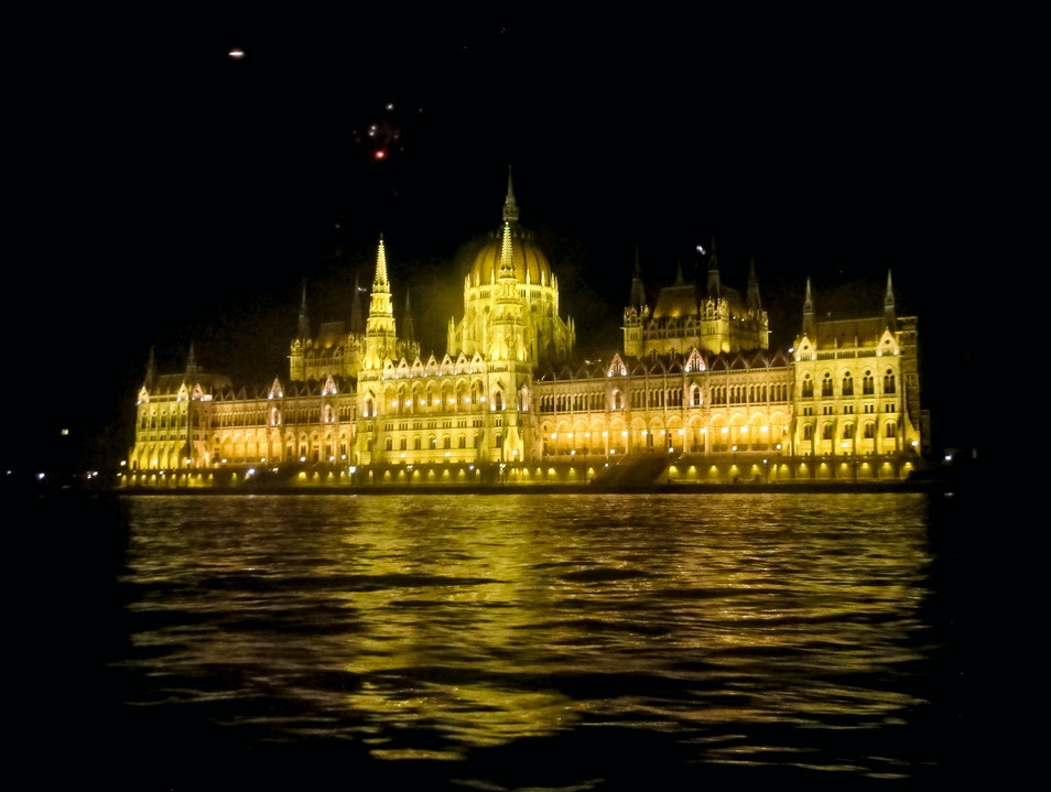 Boat Tour at night at River Danube - Budapest