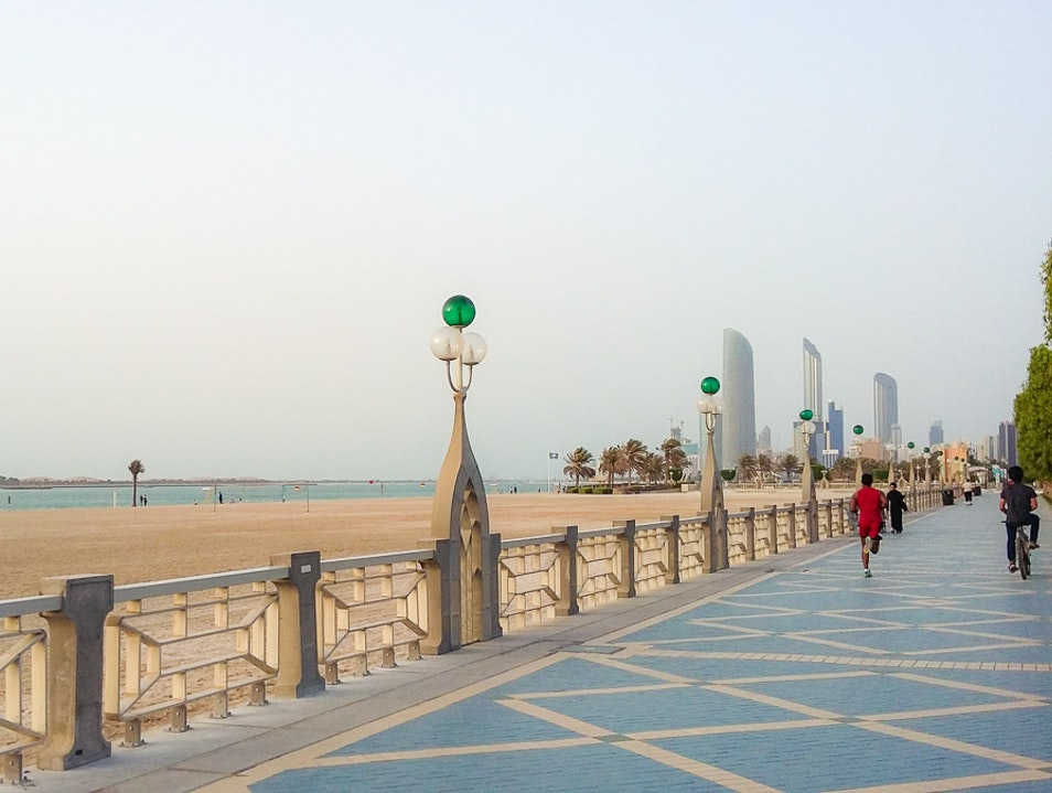 Downtown Beach Parks Abu Dhabi  United Arab Emirates
