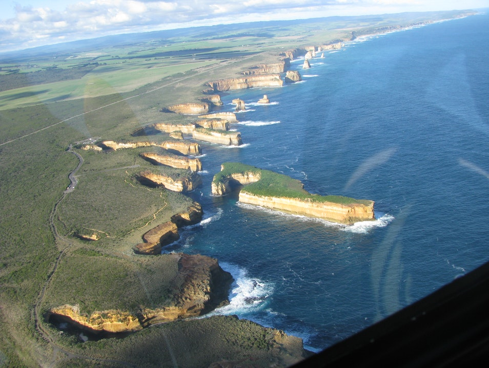 Flying over The 12 Apostles Port Campbell  Australia