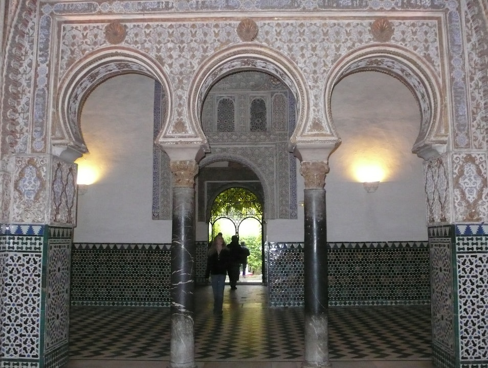Interior of the Alcazar Seville  Spain