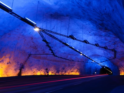 Laerdal Tunnel Aurland  Norway