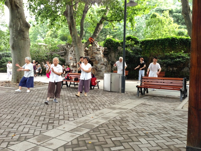 Morning Exercises in Jing'an Park