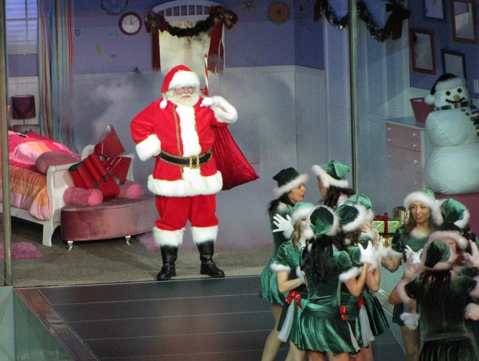 Santa Hits the Catwalk Las Vegas Nevada United States