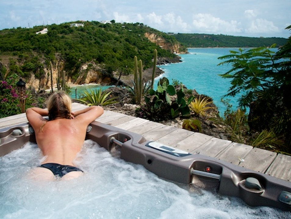 Hot Tubbing in Paradise Crocus Hill  Anguilla