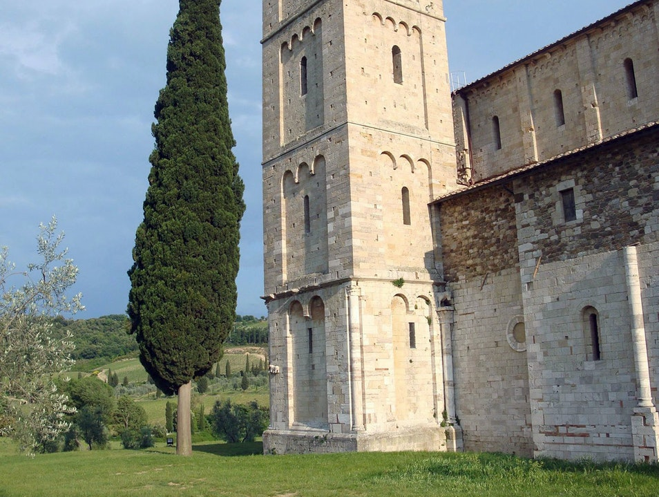 Gregorian Chants in Romanesque Abbey Castelnuovo Dell'abate  Italy