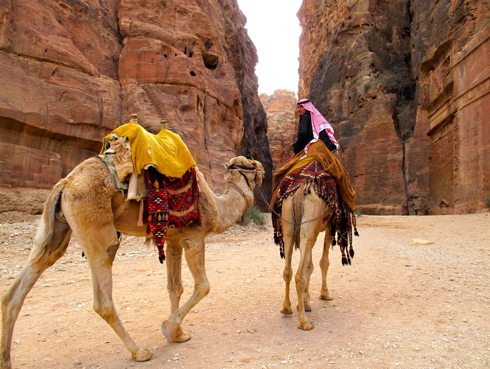 The Rose Red City of Petra Ma'an  Jordan