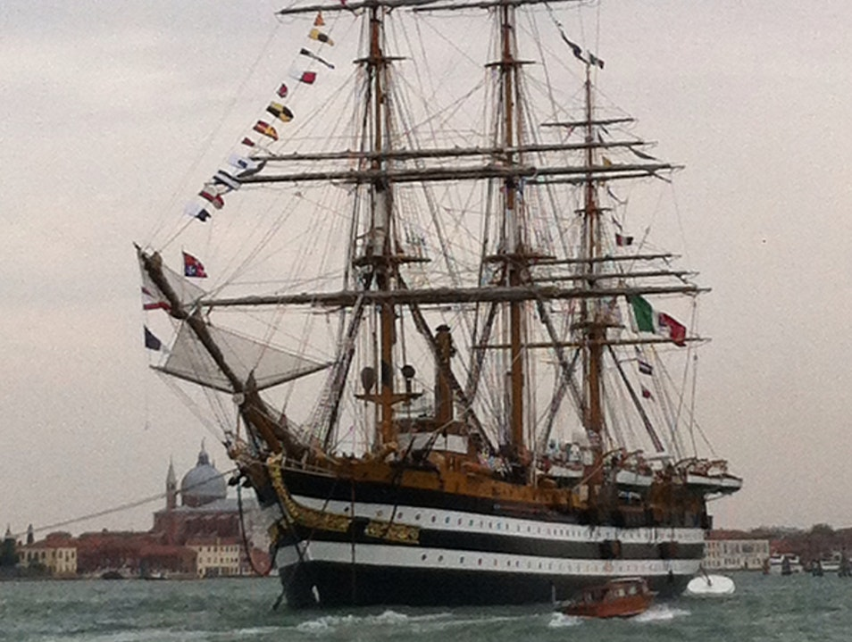 The Amerigo Vespucci Ready to Sail Venice  Italy