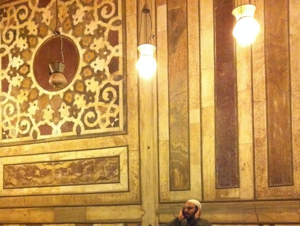 Call to Prayer at the Sultan Hassan Mosque Cairo  Egypt