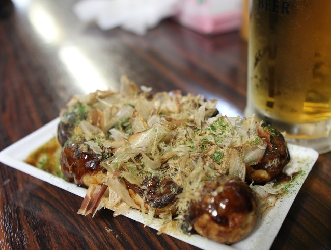 The best octopus dumplings (takoyaki) in Kyoto
