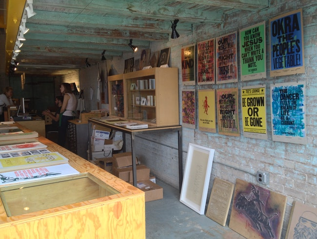 Letterpress Workshop and Gallery in Eastern Market
