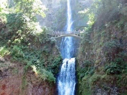 Multnomah Falls Overlook Corbett Oregon United States