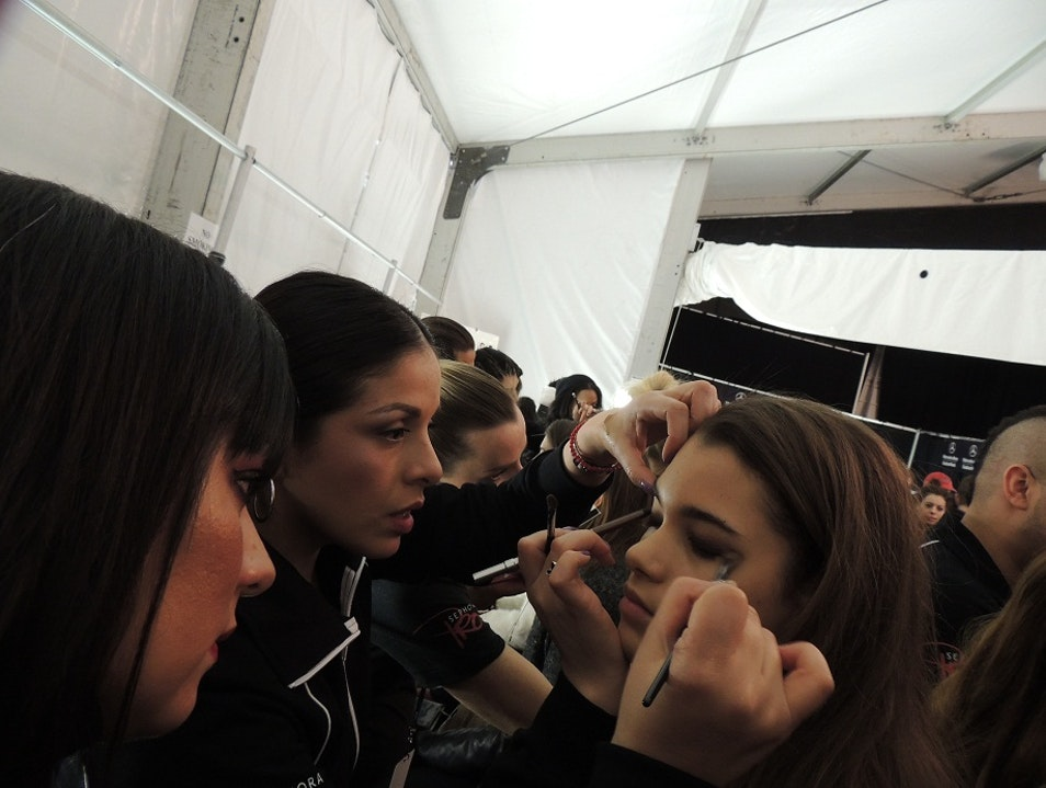 Mercedes-Benz Fashion Week: Backstage of BCBGMAXAZRIA  New York New York United States