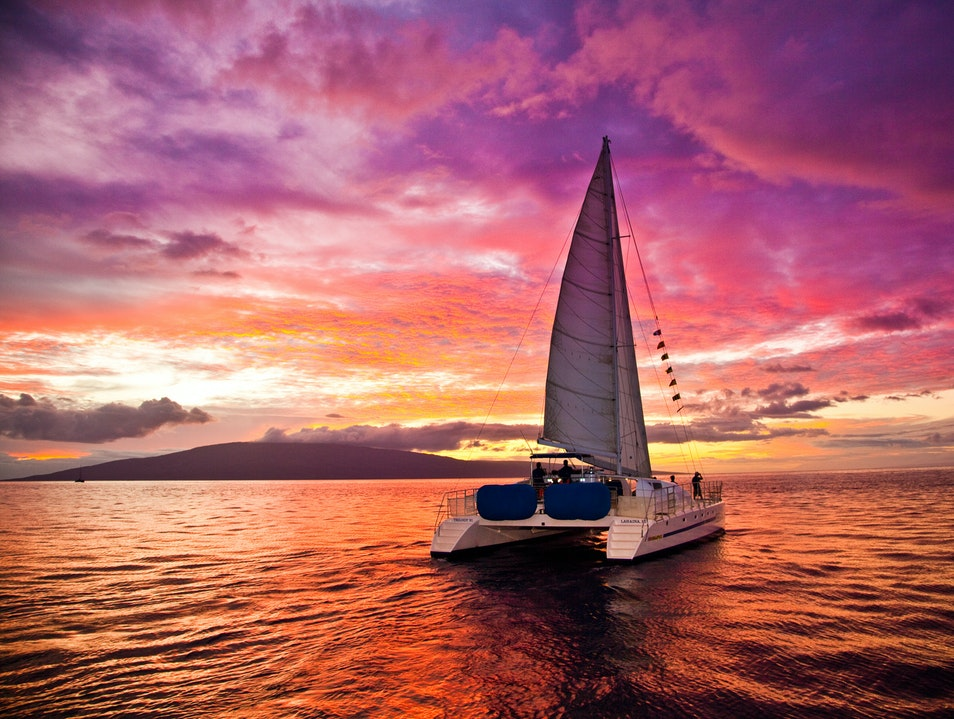 Sail into the Sunset Aboard a Trilogy Catamaran Lahaina Hawaii United States
