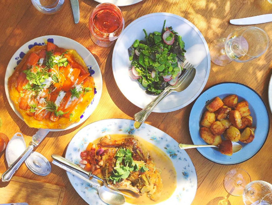 A Dreamy Meal on a Vineyard