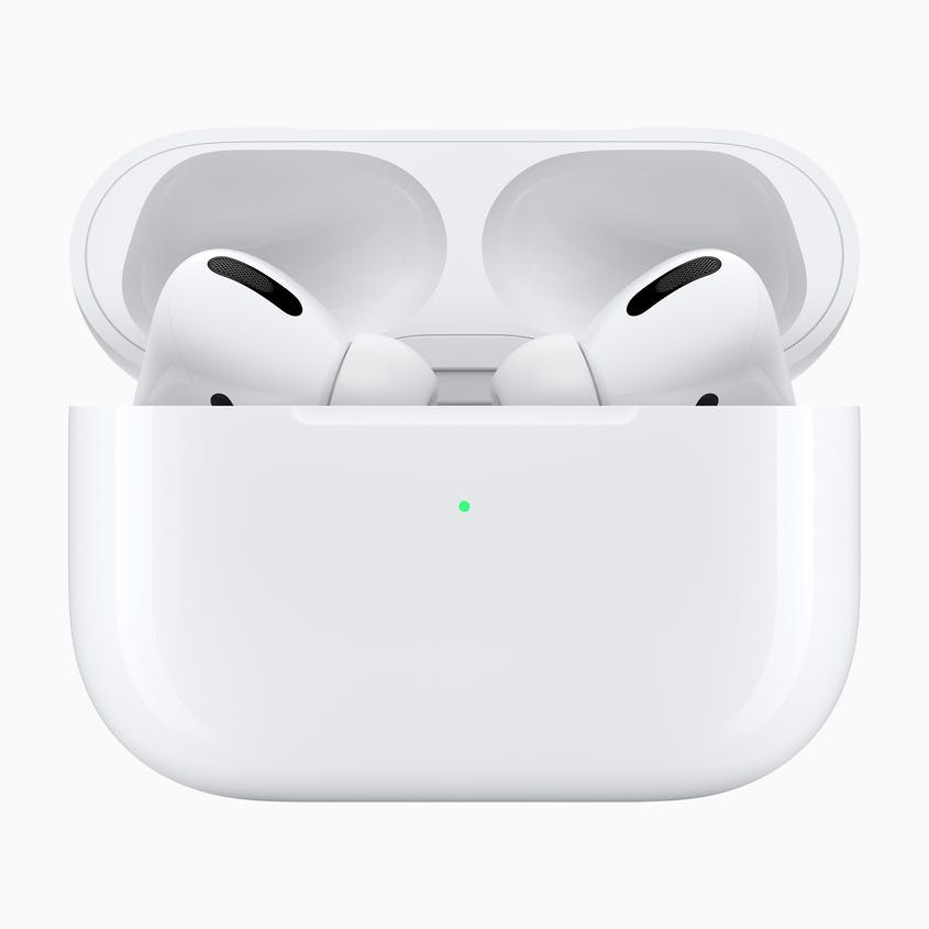 The charging case of the new AirPods Pro provides up to 24 hours of charging time.