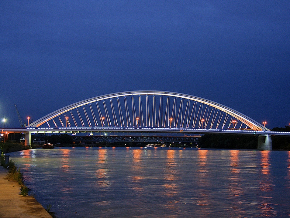 The Apollo bridge in Bratislava