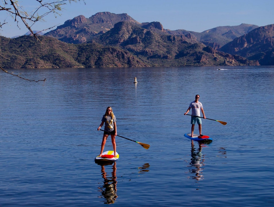 Standup Paddleboard in the Desert Mesa Arizona United States