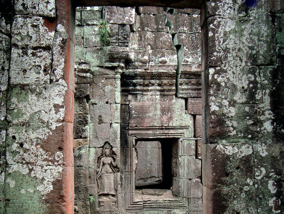 Temple Passage Siem Reap  Cambodia