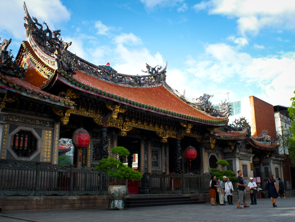 Visit Longshan Temple at Sunset Wanhua District  Taiwan