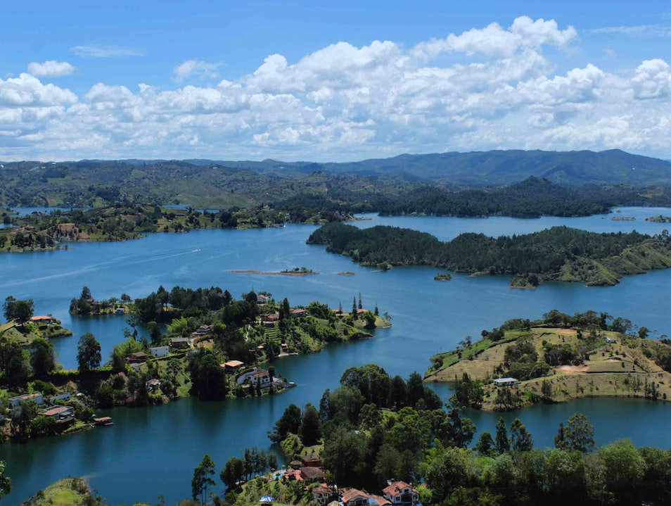 Views from atop Piedra Peñol  Guatape  Colombia