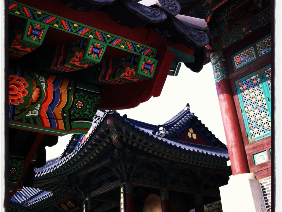 Intricate Roof Tiles Seoul  South Korea