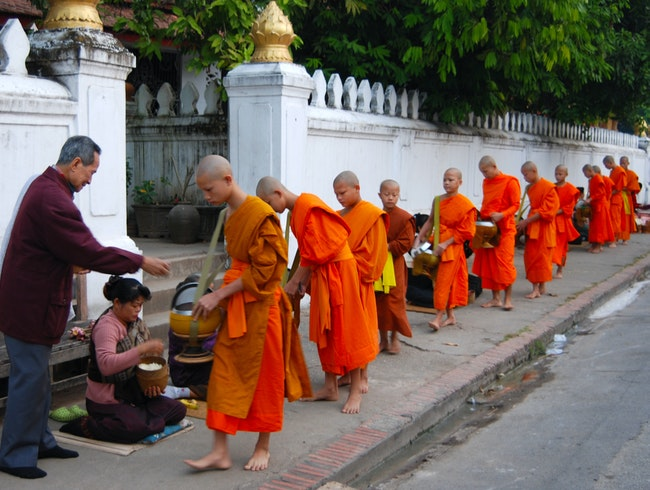 Morning Alms in Luang Prabang
