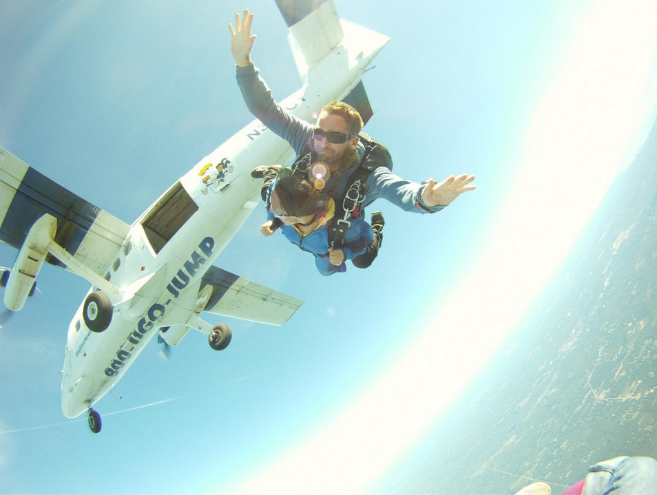 Bored? Why not jump out of a plane!  Lebanon Maine United States