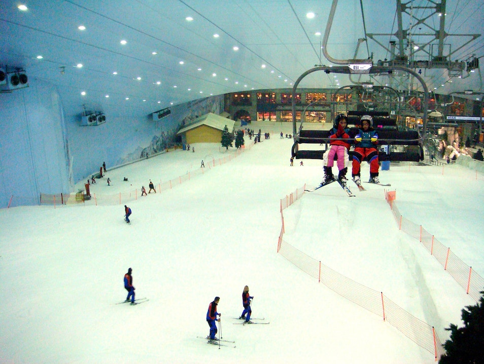 Hit the ski slopes at the Mall of the Emirates