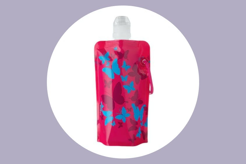 The Vapur Anti-Bottle can hold plenty of water but also fold down to a compact and packable size when not in use.