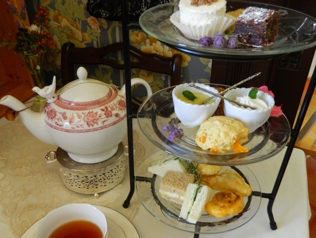 High tea in Old Town