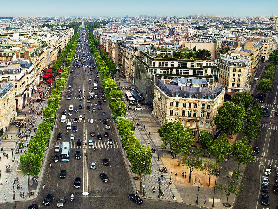 Champs Elysees Paris Afar