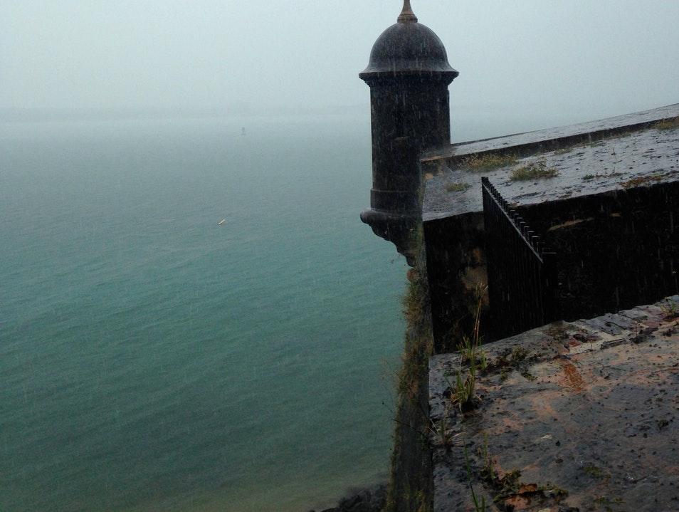 Romancing the stones - a walk through history in the rain San Juan  Puerto Rico