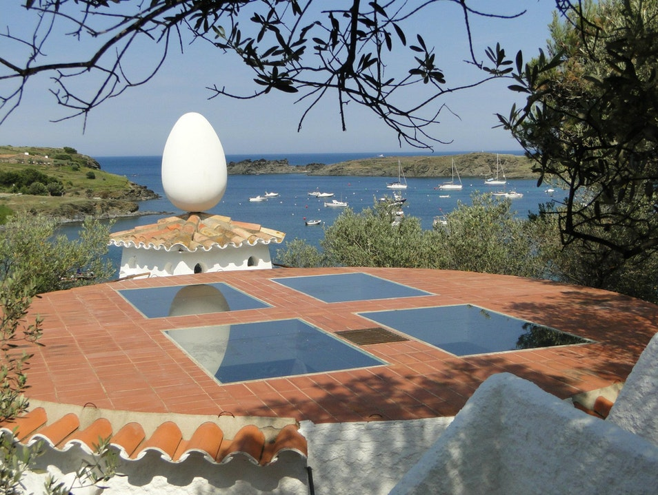 The World Is Your Egg at Dali's House Cadaqués  Spain