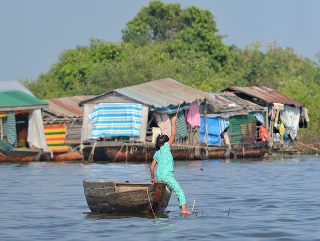 Experience village life on land and water
